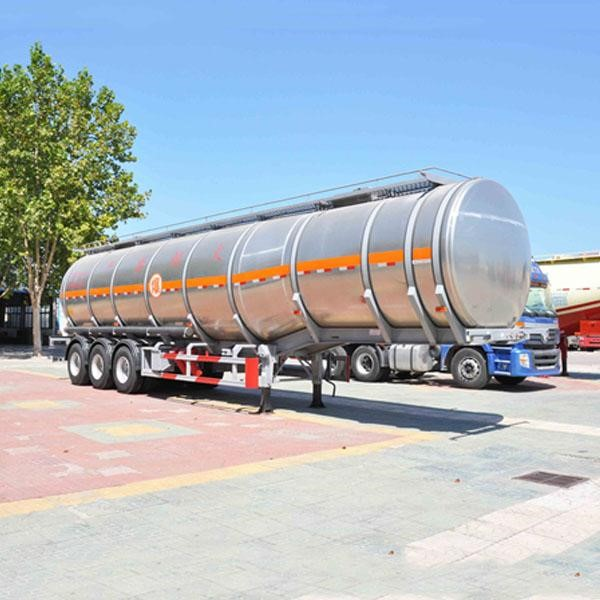 Aluminum Insulated Tanker Semi Trailer For Asphalt Edible Crude Oil