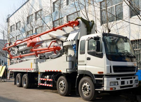 ISUZU-HONGDA Used Concrete Pump Truck 52m