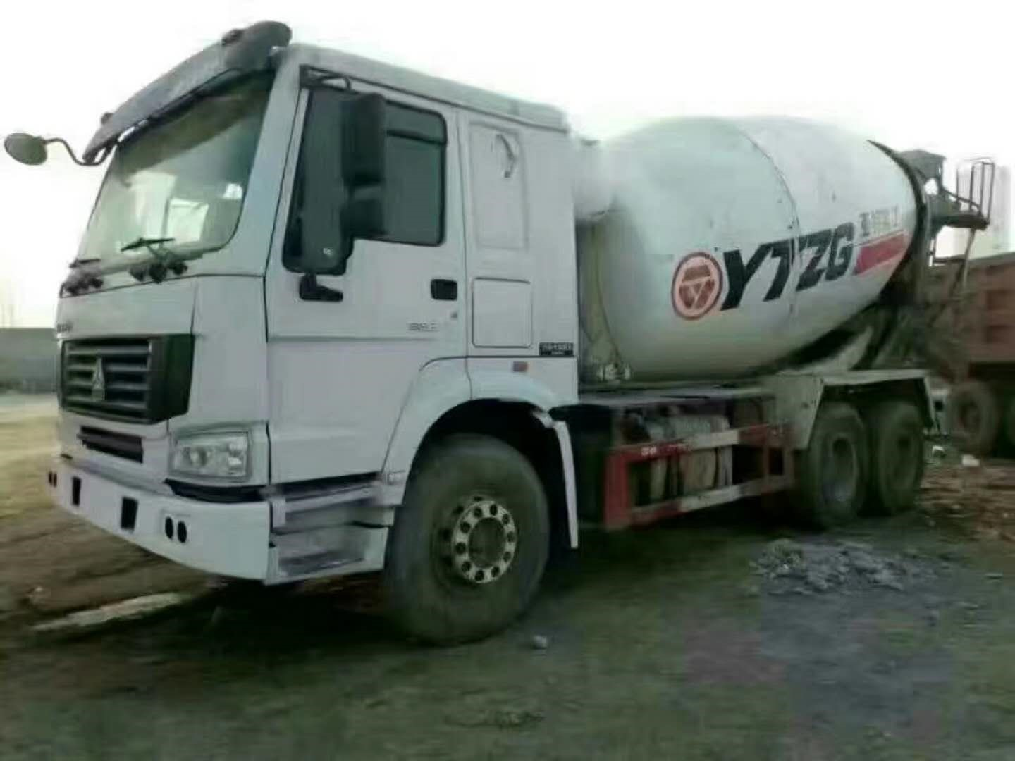 Second hand 10m3 YATE-HOWO Concrete Mixer Truck