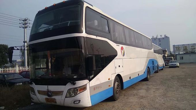 YUTONG Band Used Coach Bus 2013 Year With A/C / Diesel Weichai 336hp Engine