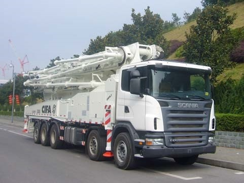 used SCANIA-ZOOMLION Concrete Pump Truck with 63m pump