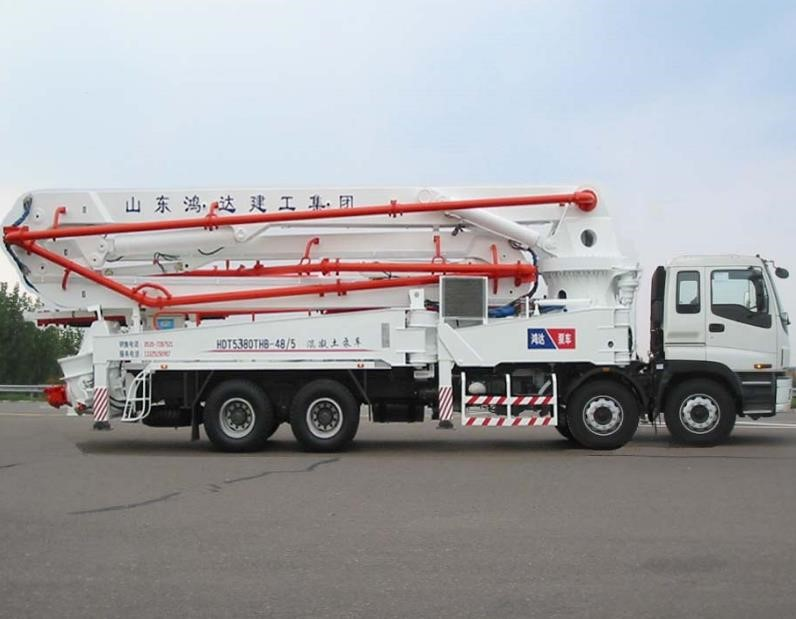 Second hand Isuzu-HongdaConcrete Pump Truck 42m