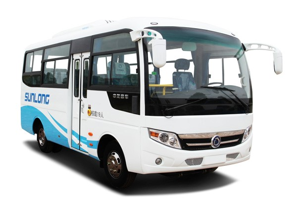 Shenlong Brand Second Hand Mini Bus , Used Coach Bus 19 Seat 95 Km/H Max Speed