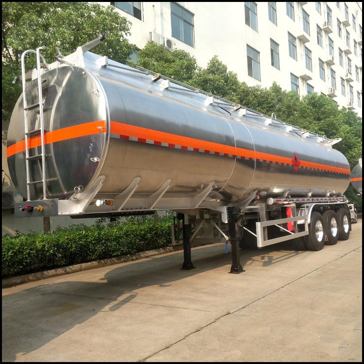 Tri Axles Aluminium Trailer Tanker oil fuel diesel Transport Tank Capacity 30, 000L-45, 000liters 12 wheels