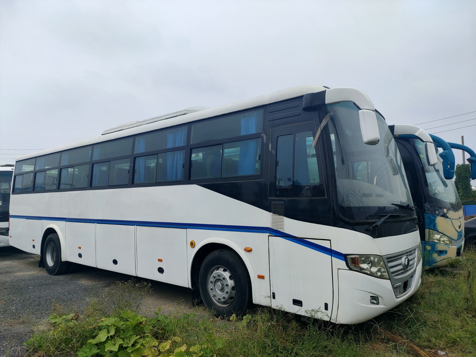 53 Seats 2012 Year Used Yutong Bus ZK6112D Diesel Engine RHD Driver Steering No Accident